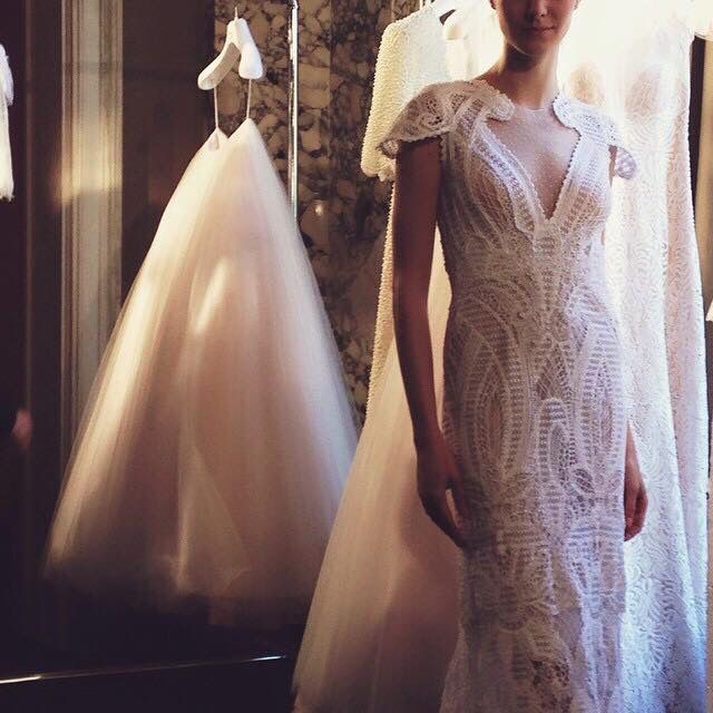 #NewYorkBridalWeek #Costarellos #Bridal2016 presentation pic by Pacific Weddings magazine! #costarellosbride #newcollection #bridalperfection #thatdrese #newyorkbride