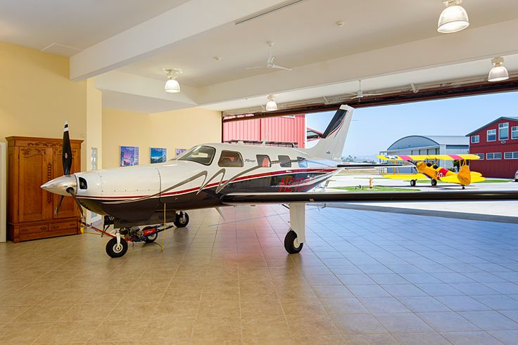 Private Plane With Garage : Attached private aircraft hangar garage pinterest