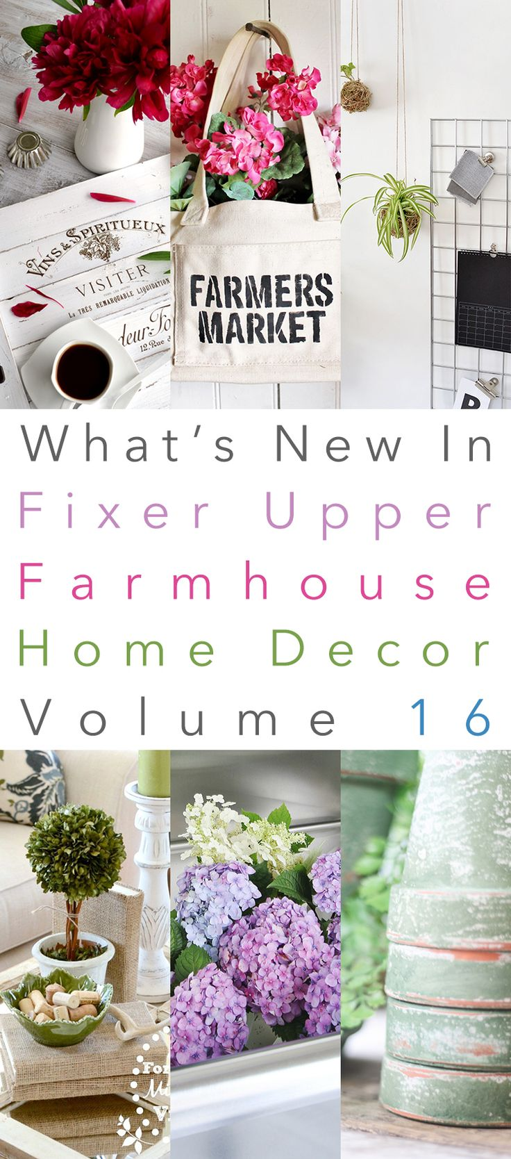 Hi there my Friends.  It's Sunday so that means it is time for What's New In Fixer Upper Farmhouse Home Decor and we are now on Volume 16!  Well it still looks like you are enjoying this weekly special…so we will continue to keep sending it your way.  Today you will see some DIY Projects with …