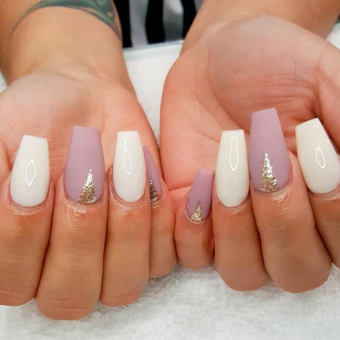 Impressive Ways To Introduce Mauve Color Into Your Fancy Mani White Nail Art Nail Designs Manicure Inspiration