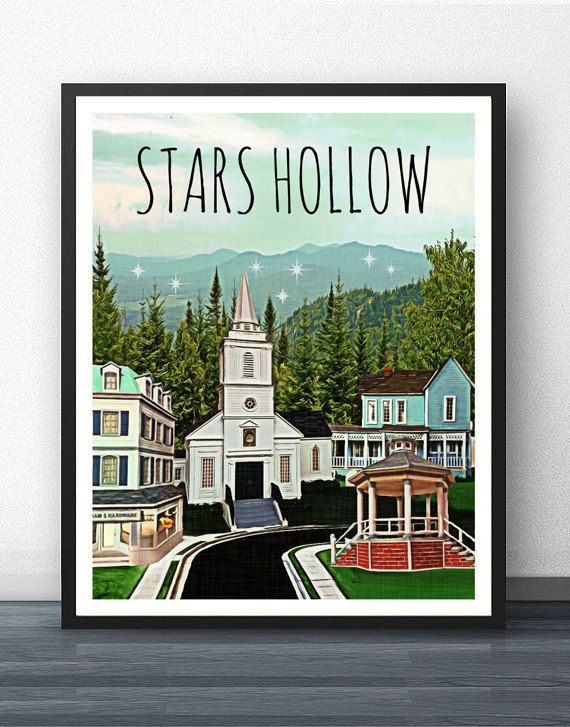 Check out this item in my Etsy shop https://www.etsy.com/listing/256860871/stars-hollow-gilmore-girls-art-print
