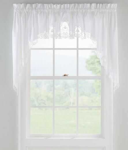 your windows will be looking lovely with our soft simple and elegant window treatments bordered with battenburg lace trim