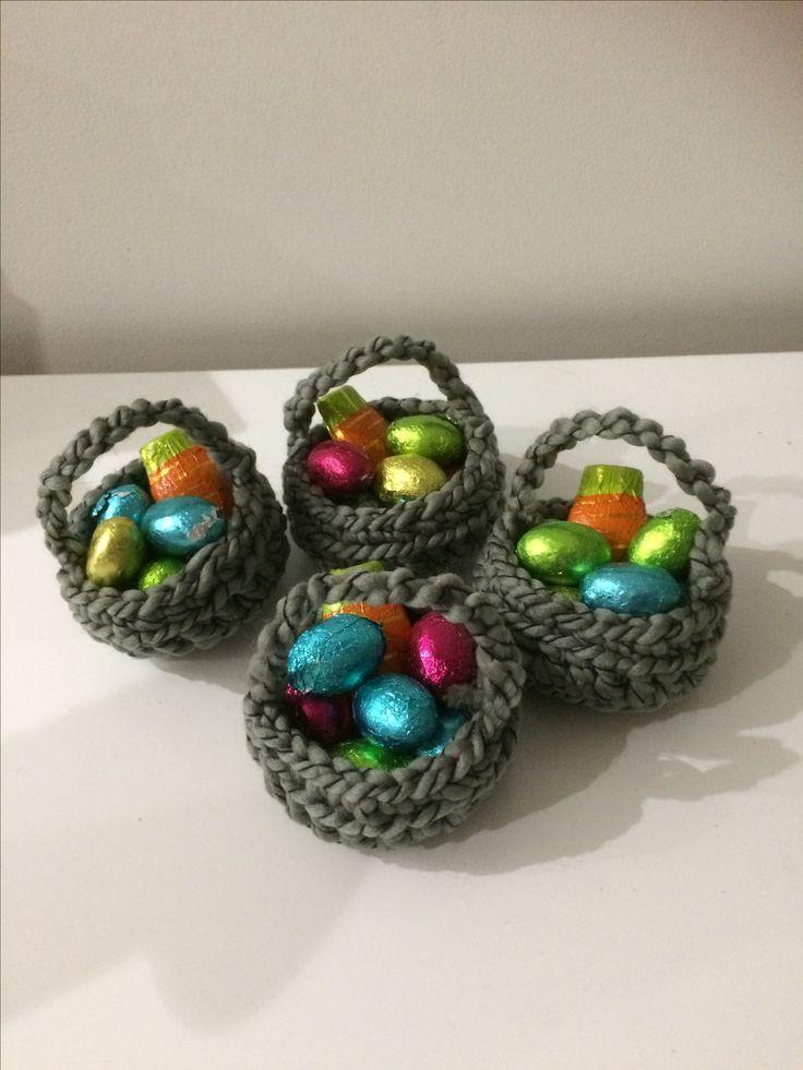 Easter crochet baskets