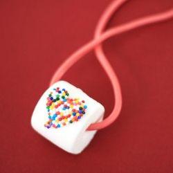 Edible necklace. So easy to make!