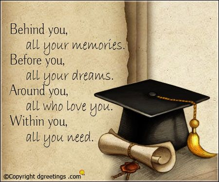 Behind you Graduation quotes, Quote cards, Grad quotes