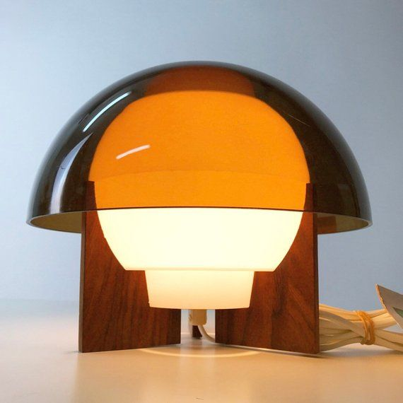 Very Unique Bent Karlby Table Lamp By A Schroder Denmark Etsy Lamp Table Lamp Acrylic Table