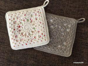 Flower Hot Pad – Free Crochet Patterns ATELIER *mati*