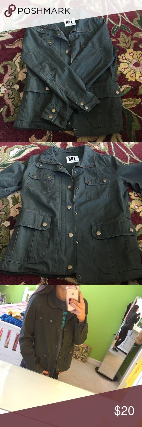 Green military jacket Green military jacket Kut from the Kloth Jackets & Coats Utility Jackets