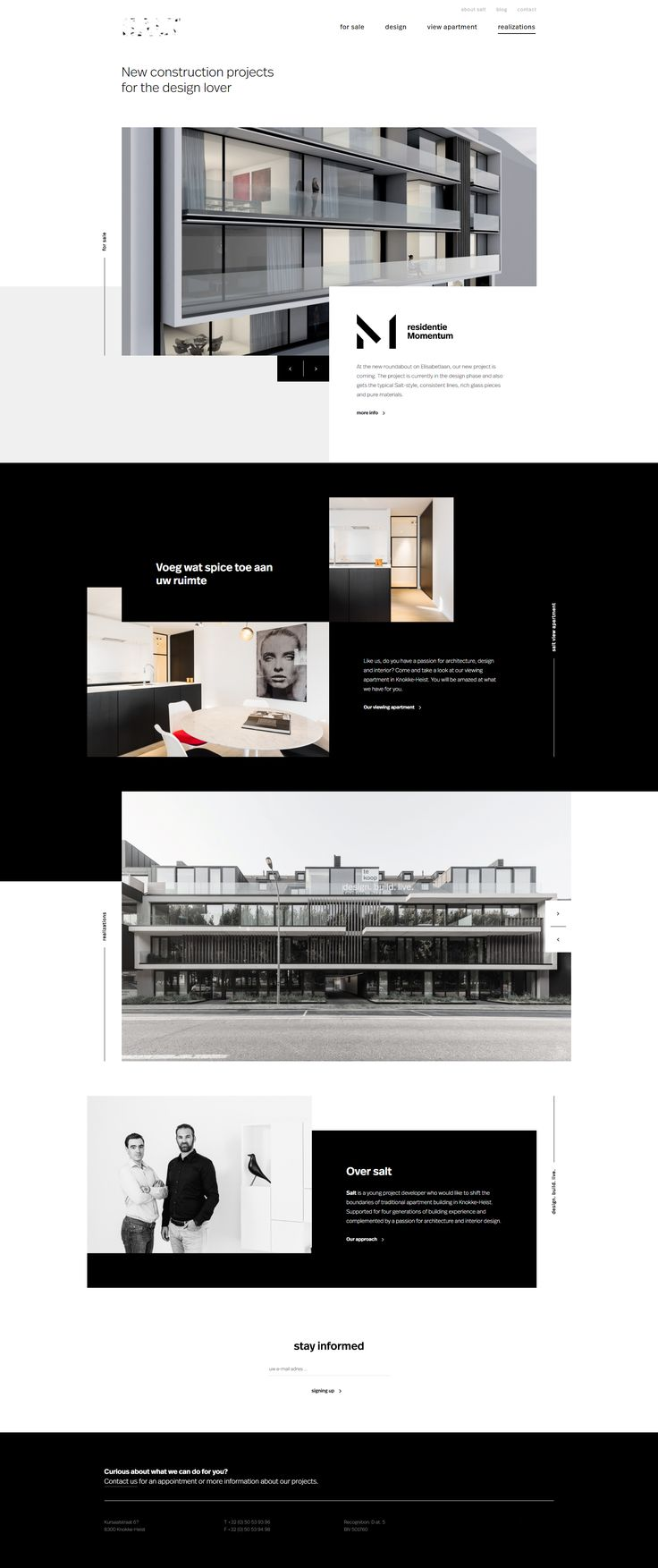 Architechture web template design