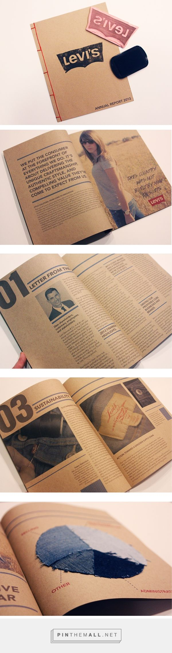 Levi's Annual Report Design on Behance... - a grouped images picture - Pin Them All