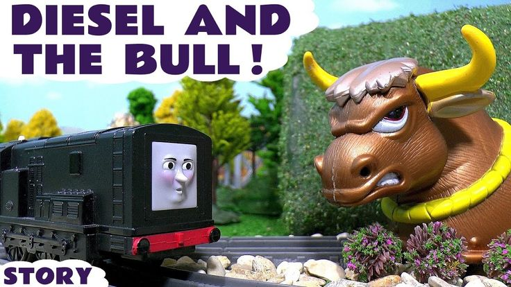 Thomas and Friends Toy Trains Episode Diesel and the Scary Bull - Train ...