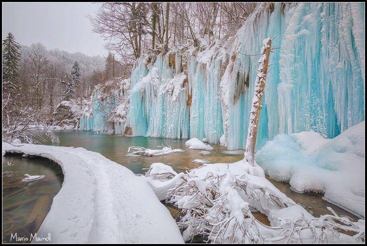Gyönyörbe fagyott Horvátország egyik legnagyobb látványossága - www.ma.hu