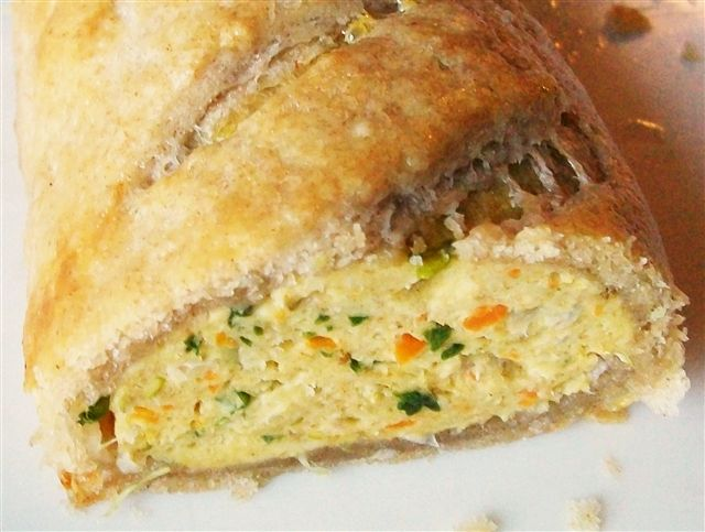 Spicy Chicken and Vege Sausage Rolls with Spelt Rough Puff Pastry