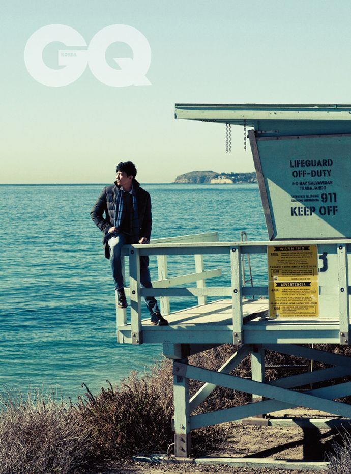 Daniel Henney With His Mango For GQ Korea's December 2014 Issue | Couch Kimchi