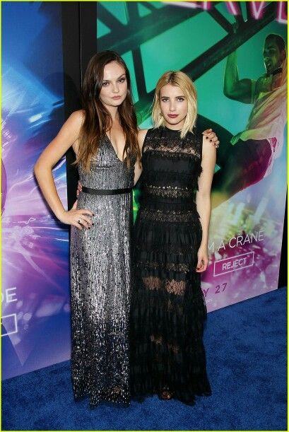 Emily Meade and Emma Roberts