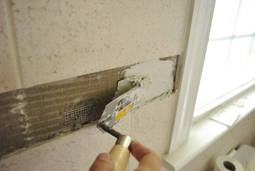 how to remove and replace JUST the accent tile!!! Young House Love | Room and Border | http://www.younghouselove.com