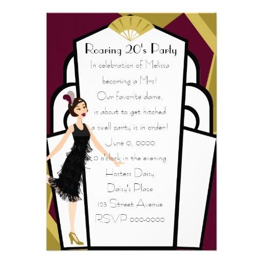 27 best glam art deco bridal shower invitations images on pinterest art deco doll invitation filmwisefo Gallery