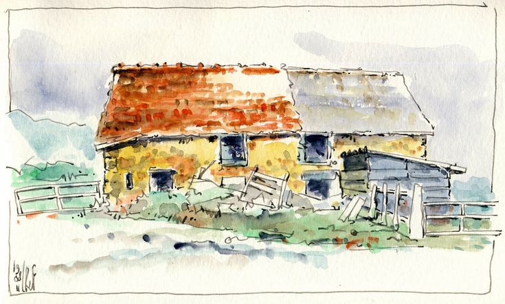 A barn in Poussain, near Châtin in mid-France.