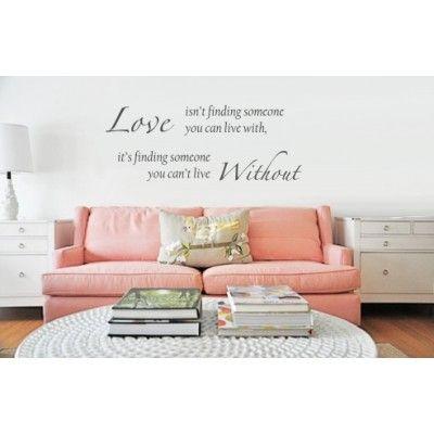 Muursticker - Muurtekst Love without verkrijgbaar in onze webwinkel