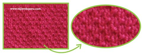 Cómo tejer el punto arroz triple en dos agujas o palitos