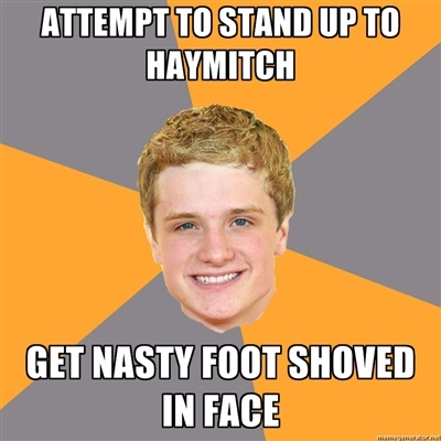 That foot was straight up infected looking. Ew.: Laughing, Memes, Books Jackets, The Hunger Games, Advice Peeta, Funny, Hungergames, Hunger Games Humor, Thehungergam