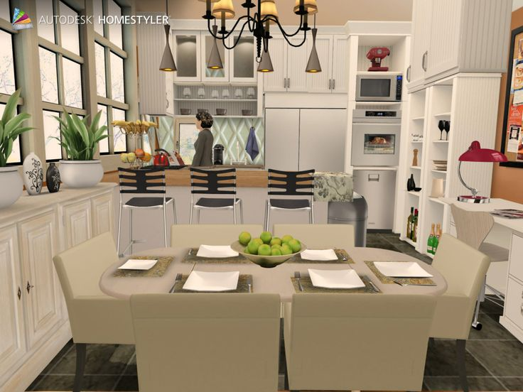 """Check out my #interiordesign """"Kitchen"""" from #Homestyler http://autode.sk/1it6qUp"""