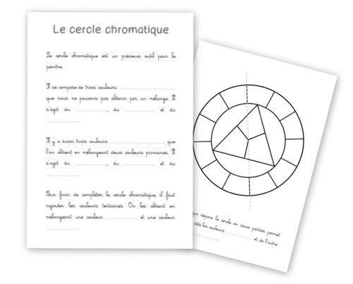 Le cercle chromatique - lien avec Musette Souricette