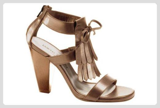 Heine Schuhe Damenschuhe Sandalette, braun Größe 35 - Damen pumps (*Partner-Link)