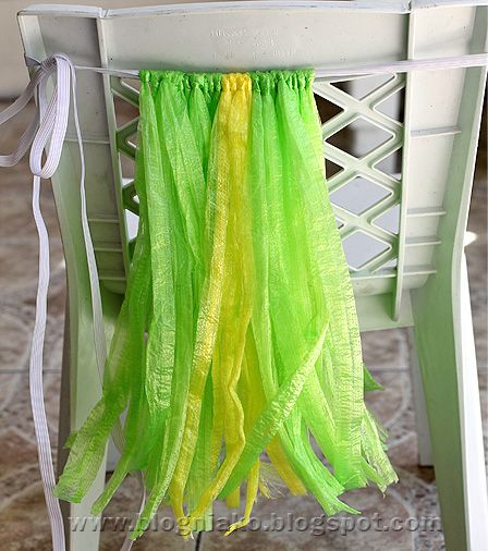 DIY Grass Skirt ... tie raffia straw on to a long strip of elastic and then sew.