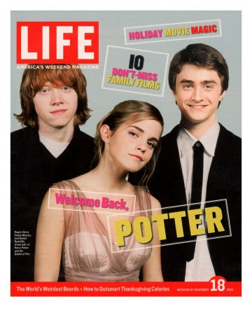Co-stars of Harry Potter films Rupert Grint, Emma Watson and Daniel Radcliffe, November 18, 2005