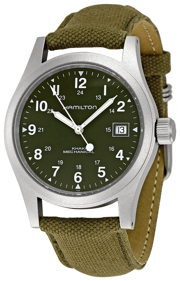 Hamilton Men's HML-H69419363 Khaki Field Green Dial Watch