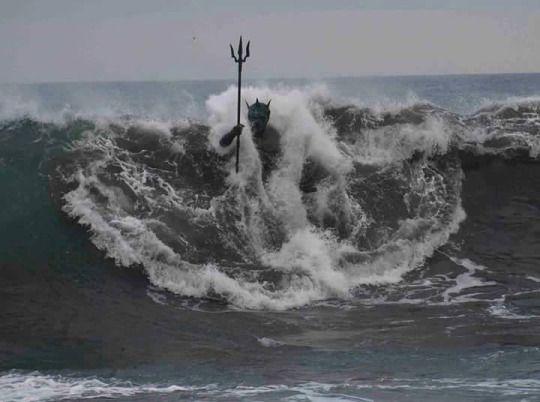 Poseidon himself.