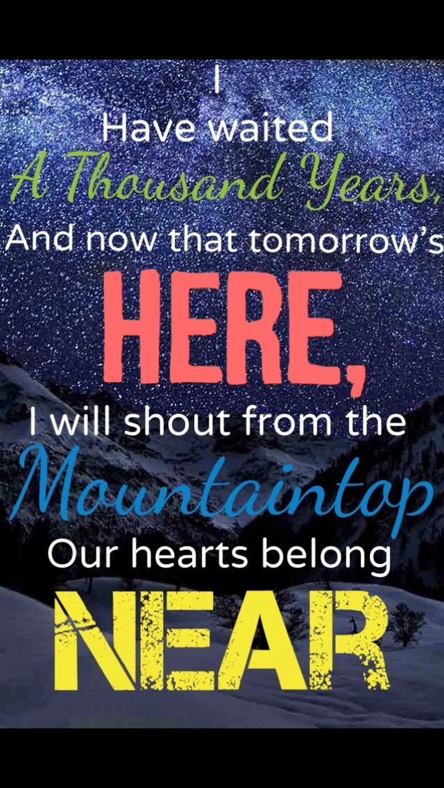 From Standing By by Pentatonix *Originally made by Erin McKenna*