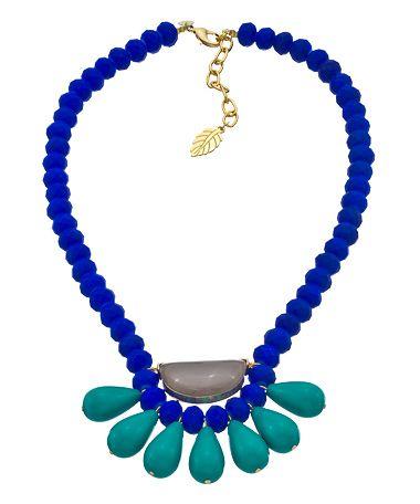 David Aubrey Lapis Blue Bib Necklace #maxandchloe