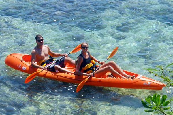 ayaking is a fun way to explore Guam's less accessible coastlines and outer rock islands. Pack a picnic and head out to Cocos Island for hiking and bird watching. Or load up your snorkel gear and venture out to Anae island for fish, crab, and lobster sightings. Keep an eye out for turtles and dolphins along the way. Looking to buy a kayak? Alupang Beach Club sells new and used ocean kayaks.