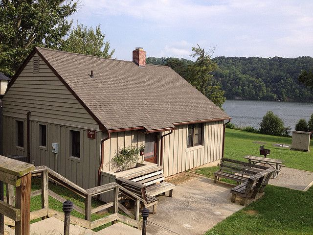 Six Cheap Romantic Getaways in Virginia This is cabin 9 at Claytor Lake State Park, a waterfront 2 bedroom cabin in Virginia