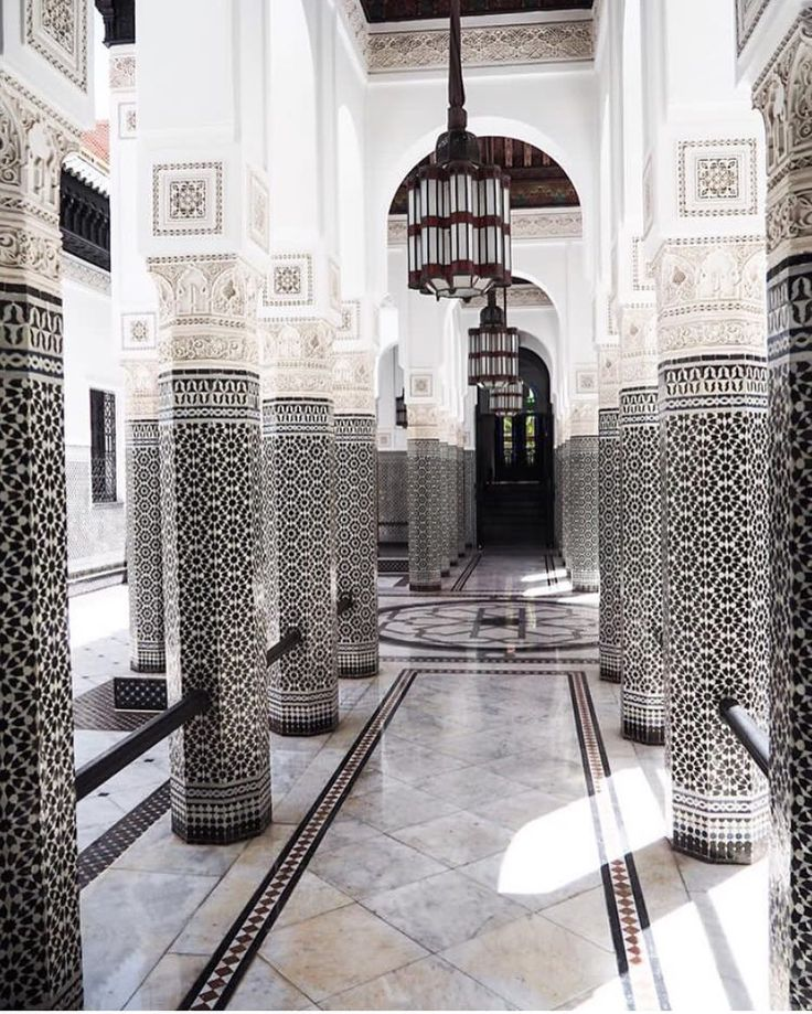 La Mamounia Marrakech Hotel Palace in Morocco  So instagrammable.  Tiles envy  Instagram: @CollectedHarmony