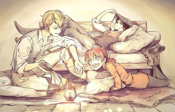 This is beautiful | Farlan, Levi, Isabel | ACWNR | SNK