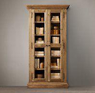Salvaged Wood Glass Door Cabinet | Wood Shelving & Cabinets | Restoration Hardware
