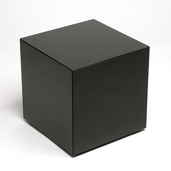 black glass side table by out there interiors | notonthehighstreet.com because you need to put your 'tee' somewhere: so me to a tee!