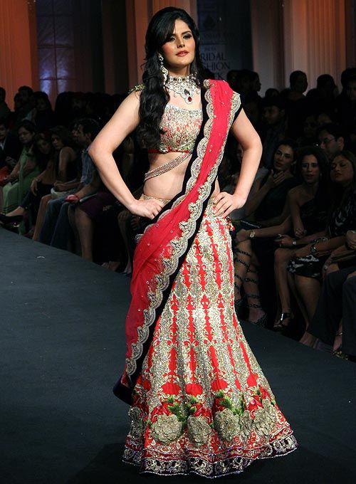 Zarine Khan in fishtail lehenga #Bollywood #Fashion