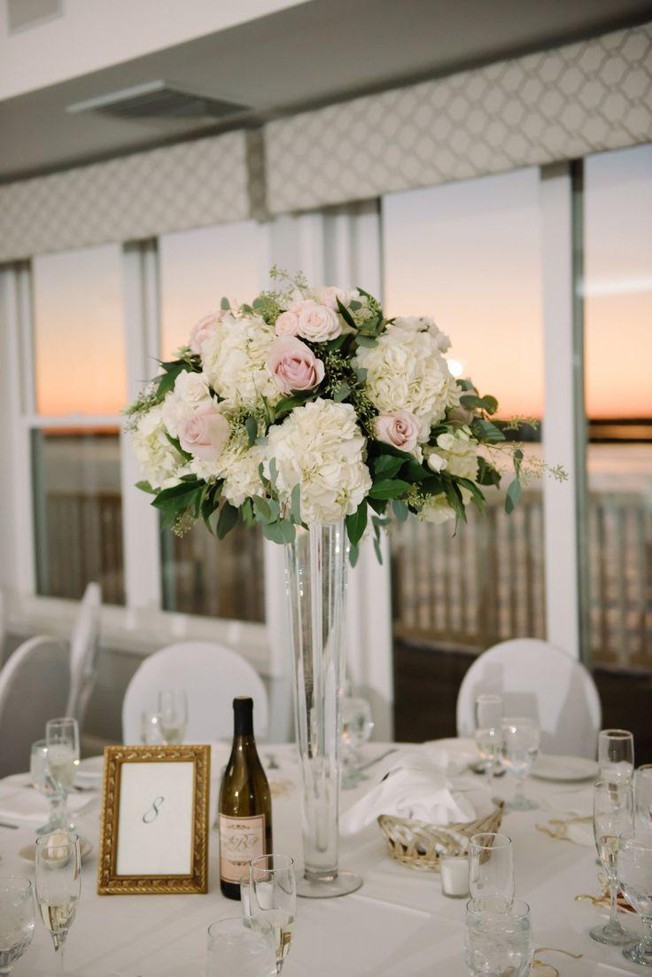 Blush and white wedding ideas roses hydrangea