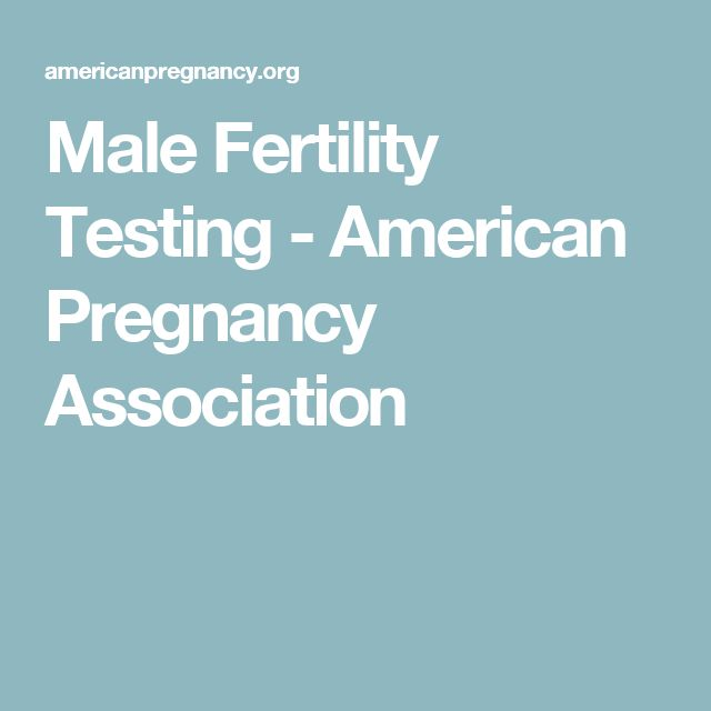 Male Fertility Testing - American Pregnancy Association #americanpregnancyassociation,