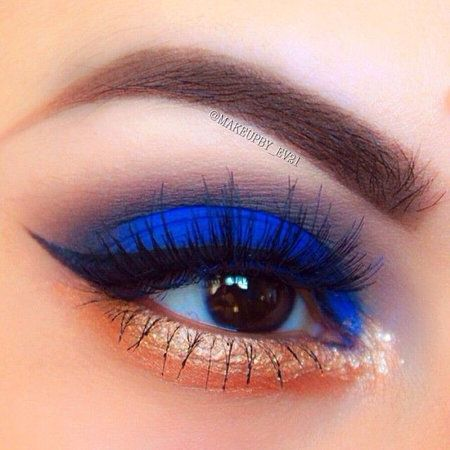 Electric Blue Eyeshadow