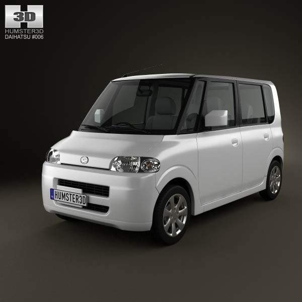 Daihatsu Tanto 2003 3d model from humster3d.com. Price: $75