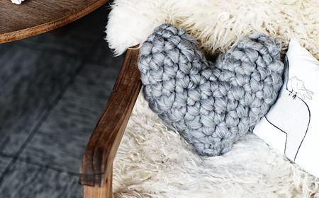 Patrón para corazón tejido