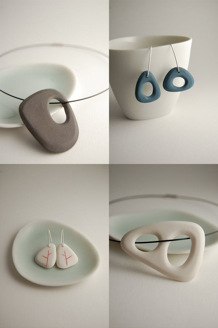 Porcelain Jewelry  note: use clay to create