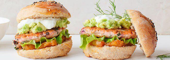 burger łosoś