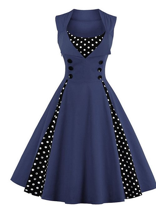 8a6203f18e784 Women s Plus Size Party   Holiday   Going out Vintage   1950s A Line Dress -
