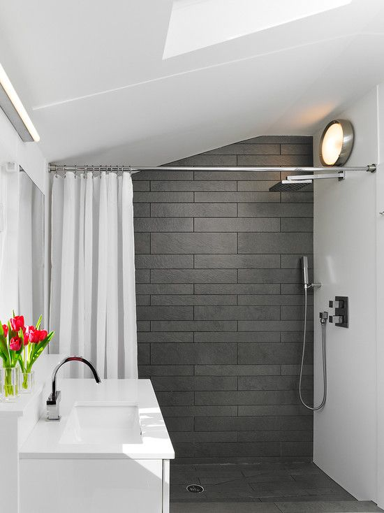 Best 25 dark grey bathrooms ideas on pinterest simple for Tiny bathroom decor